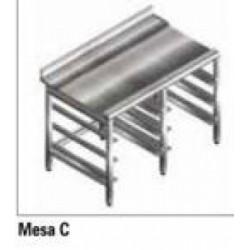 Mesa Lisa Guias Cesta Acero Inox. Lavavajillas Cupula Jemi Gs 83/102