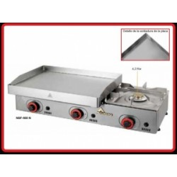Plancha De Asar Mainho Rectificada Gas Foc Nsf 600 N