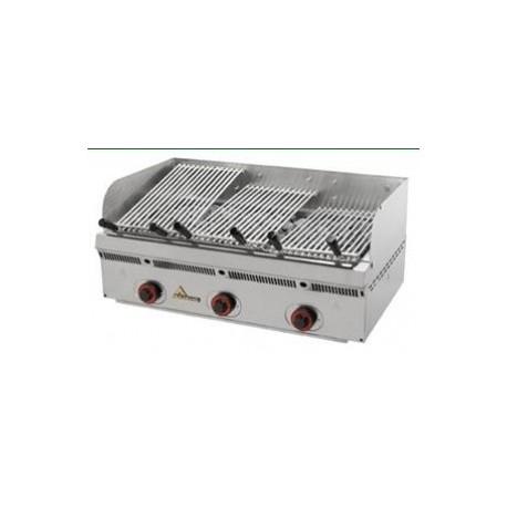 Barbacoa parrilla Mainho serie vasca-inox PBV-90 acanalada de acero inoxidable