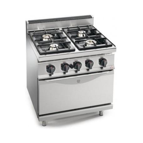 Cocina Bertos Serie 700 Macros 4 Fuegos Con Horn0