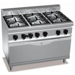 Cocina Bertos Serie 700 Macros 6 Fuegos Con Horn0 Maxi