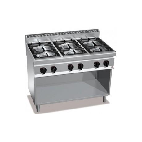 Cocina Bertos Serie 700 Macros 6 Fuegos Con Mueble