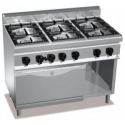 Cocina Bertos Serie 700 Macros 6 Fuegos Con Horn0