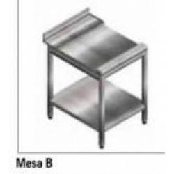 Mesa Lisa Acero Inox. Lavavajillas Cupula Jemi Gs 83 O Gs 102 Rincón