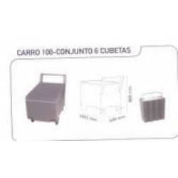 Silo Itv Carro 100 Conjunto 6 Cubetas