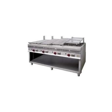 Barbacoa parrilla Mainho royal grill PSI-80 grandes producciones acanalada de acero inoxidable