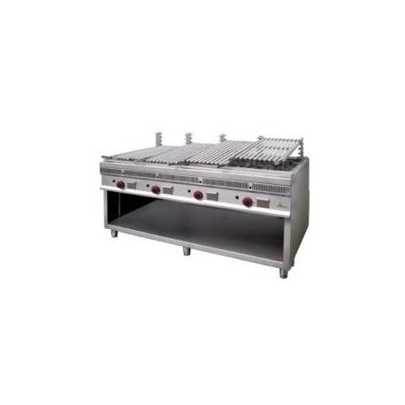 Barbacoa parrilla Mainho royal grill PSI-160 grandes producciones acanalada de acero inoxidable