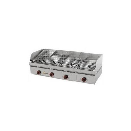 Barbacoa parrilla Mainho serie vasca-inox PBV-120 acanalada de acero inoxidable